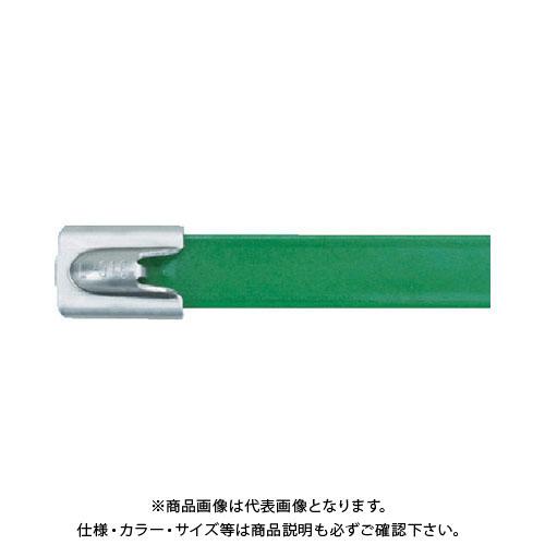 パンドウイット MLT フルコーティングステンレススチールバンド SUS316 緑 50本入り MLTFC2H-LP316GR