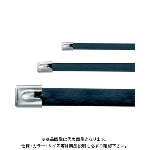 パンドウイット MLTタイプ フルコーティングステンレススチールバンド SUS316 黒 幅4.6mm 長さ201mm 100本入り MLTFC2S-CP316