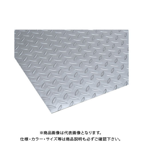 【運賃見積り】【直送品】 テラモト リサイクル長マット縞鋼板シルバー MR-157-120-5