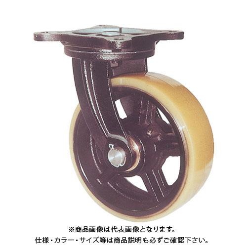 【個別送料1000円】【直送品】 ヨドノ 鋳物重量用キャスター 許容荷重1470 取付穴径16mm MUHA-MG300X100