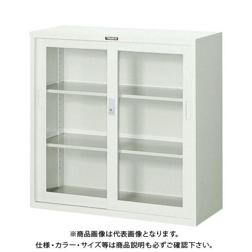 【個別送料2000円】【直送品】 TRUSCO スタンダード書庫(D400) ガラス引違 880XH880 N303G