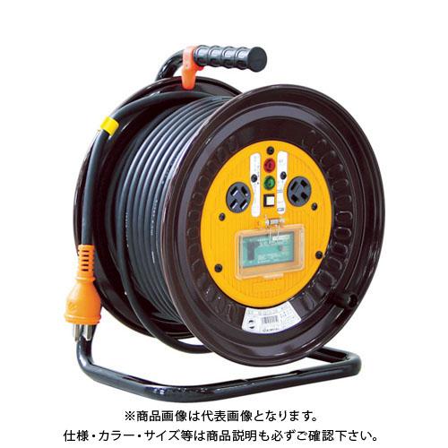 日動 電工ドラム 三相200Vドラム アース漏電しゃ断器付 30m ND-EB330-20A