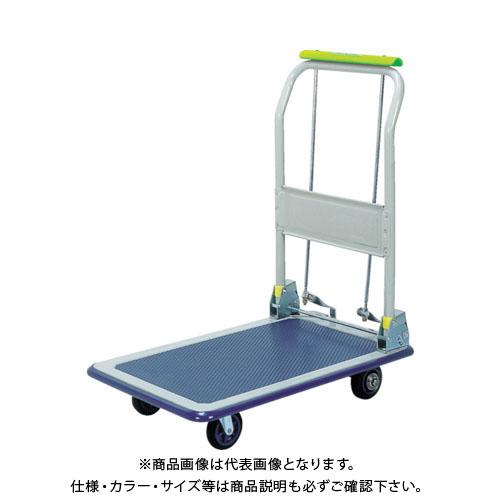 【運賃見積り】【直送品】佐野車輌 運搬台車スマイルブレーキE300折畳み式(1421-301) NF-301B