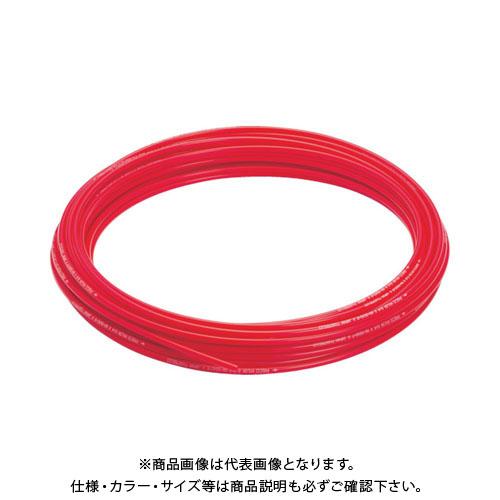 ピスコ ソフトナイロンチューブ レッド 8×6 100M NB0860-100-R
