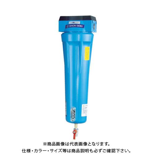日本精器 高性能エアフィルタ15A0.01ミクロン(ドレンコック付) NI-AN2-15A-DL-DV