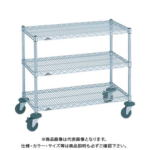 【運賃見積り】【直送品】エレクター ミニカート 605×460×高さ815 3段 NMCA-S