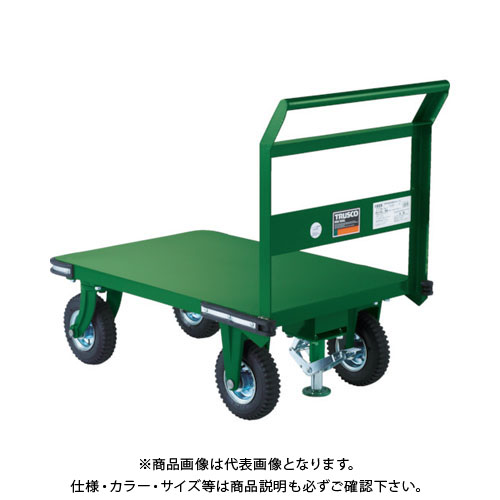 【直送品】TRUSCO 鋼鉄製運搬車 900X600 Φ223空気入タイヤ 鋳物金具 S付 OHN-2ARS