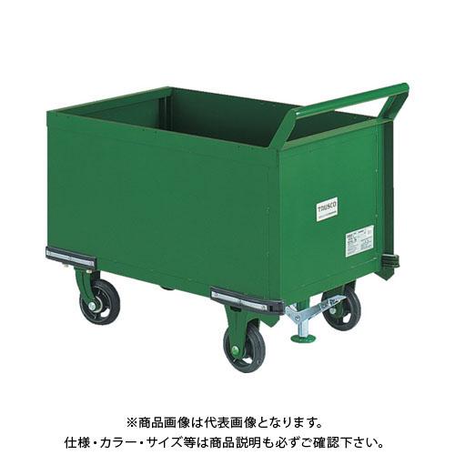 【直送品】TRUSCO 鋼鉄製運搬車 900X600 前方トビラ S付 OHN-24PS