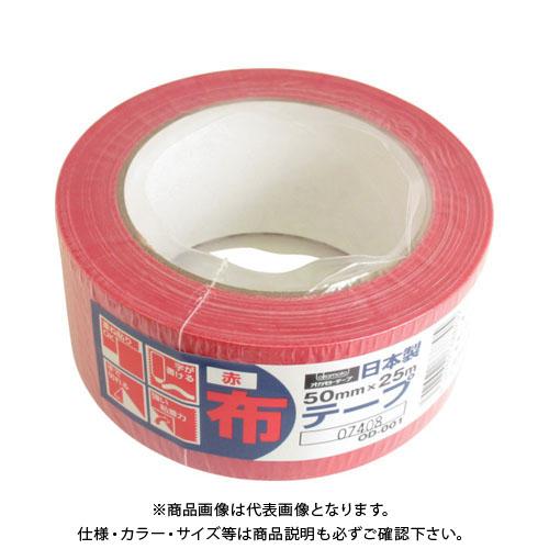 オカモト 布テープカラーOD-001 赤 30巻 OD-001-R