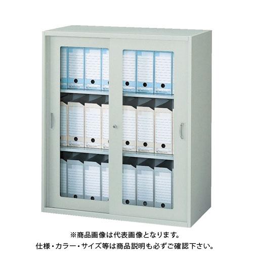 【運賃見積り】【直送品】 ナイキ ガラス引違い書庫(枠付) NWS-0911HG-AW