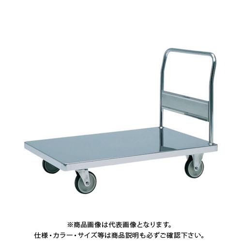 【直送品】テックサス ステンレス台車 1200X750 SUSφ150ウレタン車 NW-1275D