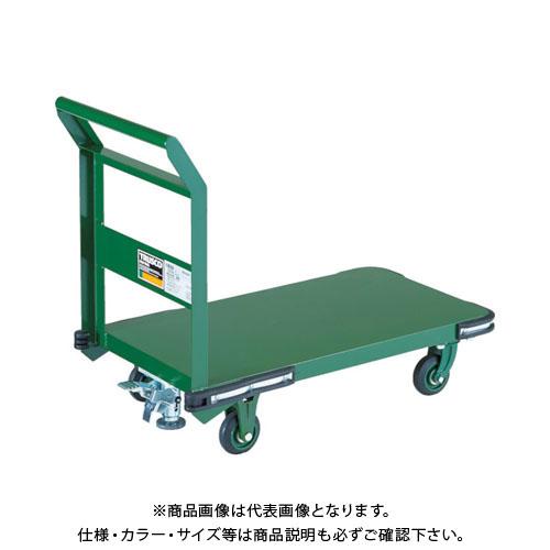 【直送品】TRUSCO 鋼鉄製運搬車 800X450 Φ100鋳物車輪 LS付 OH-3SS