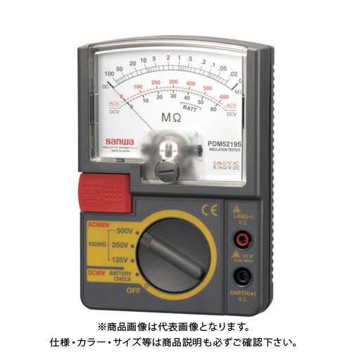SANWA アナログ絶縁抵抗計 500V/250V/125V PDM5219S 500V/250V/125V SANWA PDM5219S, 小谷村:a440e7e1 --- loveszsator.hu