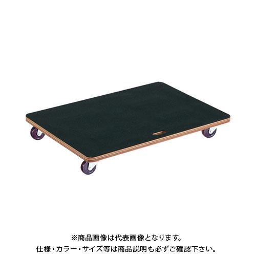 【運賃見積り】【直送品】TRUSCO 合板平台車プティカルゴ 900X600 ゴム張り ゴム車 PCG-6090G
