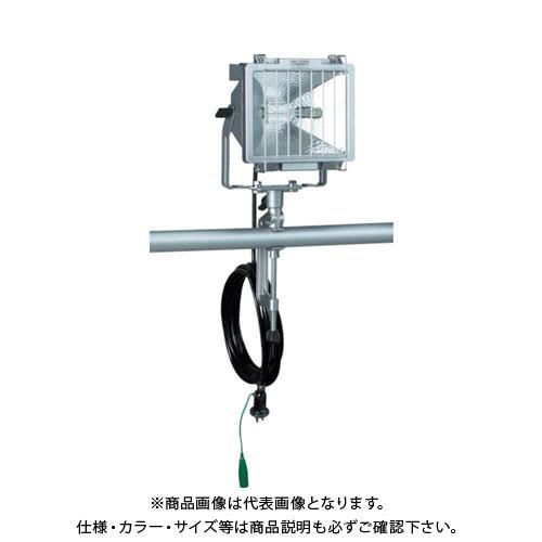 ハタヤ 防雨型ハロゲンライト 500W 100V接地付電線5m バイス付 PH-505KN