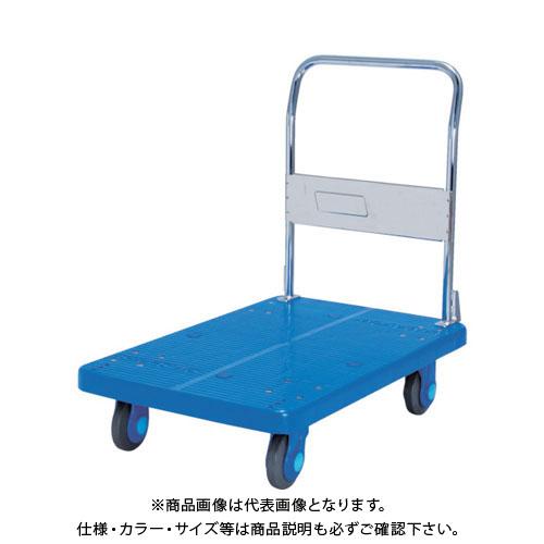 【直送品】カナツー 静音プラ300樹脂製固定式ハンドトラック PLA300