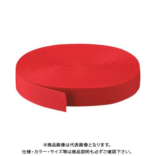 TRUSCO PPベルト幅50mmX長さ50m 赤 PPB-5050:R