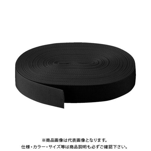 TRUSCO PPベルト幅50mmX長さ50m 黒 PPB-5050:BK