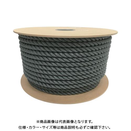 ユタカ ポリエチレンロープドラム巻 16mm×100m グレー PRE-168