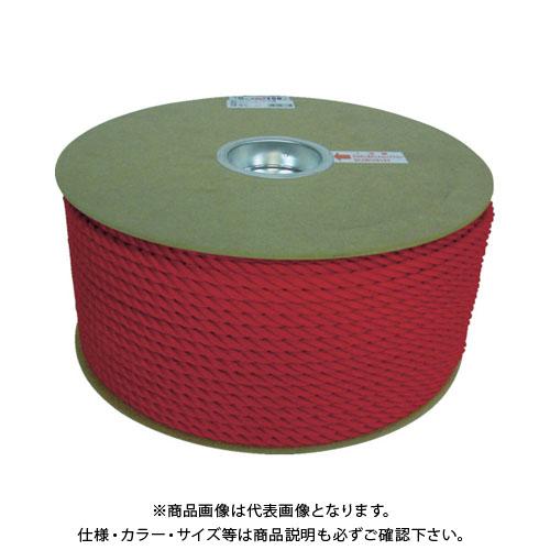 ユタカ ポリエチレンロープドラム巻 9mm×150m レッド PRE-51
