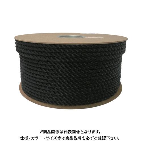 ユタカ ポリエチレンロープドラム巻 9mm×150m ブラック PRE-54