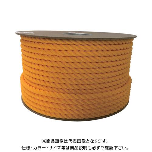 ユタカ ポリエチレンロープドラム巻 12mm×100m イエロー PRE-60
