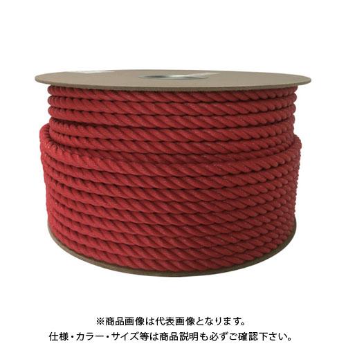 ユタカ ポリエチレンロープドラム巻 12mm×100m レッド PRE-61