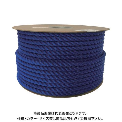 ユタカ ポリエチレンロープドラム巻 12mm×100m ブルー PRE-62