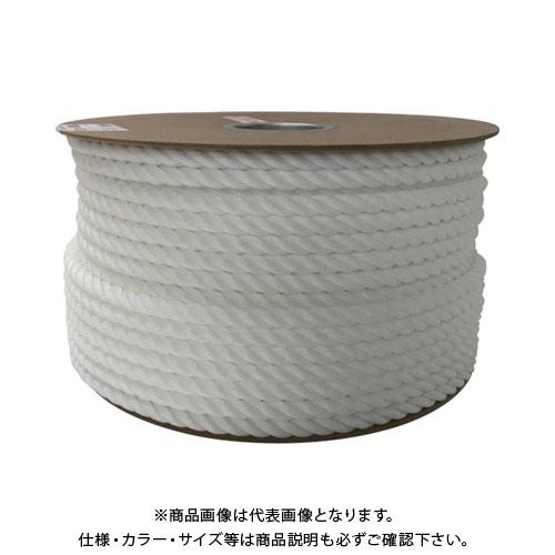 ユタカ ポリエチレンロープドラム巻 12mm×100m ホワイト PRE-67