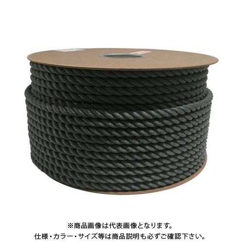 ユタカ ポリエチレンロープドラム巻 12mm×100m グレー PRE-68