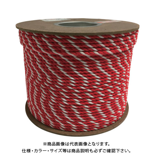 ユタカ アクリル紅白ロープ 6mm×200m PRZ-10