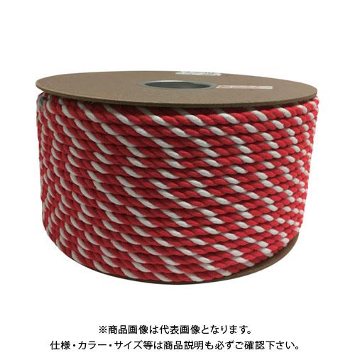 ユタカ アクリル紅白ロープ 9mmm×150m PRZ-55