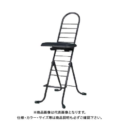 【運賃見積り】【直送品】 セイコー プロワークチェア スゥイング 黒 PW-600S:BK