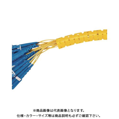 パンドウイット 電線保護チューブ スリット型スパイラル パンラップ 束線径28.6Φmm 15m巻き 黄 PW150F-L4