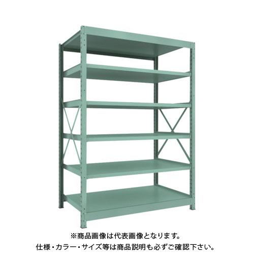 【直送品】 TRUSCO R3型中量棚 1500X900XH2100 6段 単体 R3-7596