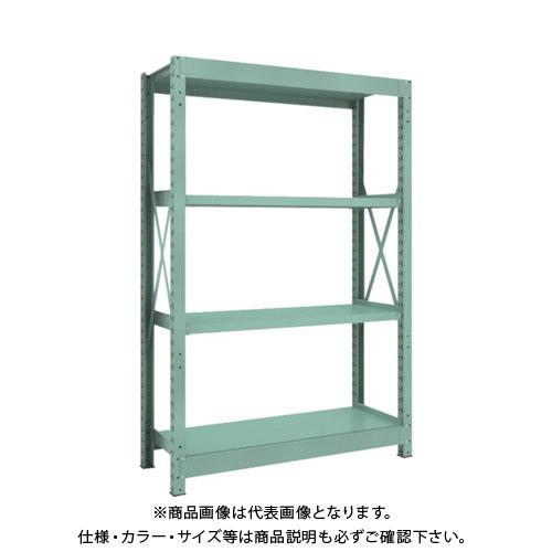 【運賃見積り】【直送品】 TRUSCO R3型中量棚 1200X450XH1800 4段 単体 R3-6454