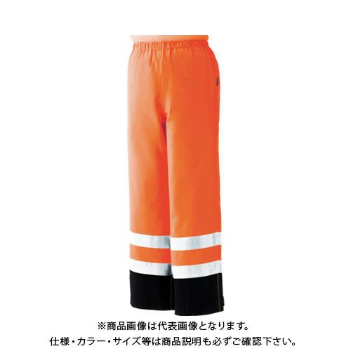 ミドリ安全 雨衣 レインベルデN 高視認仕様 下衣 蛍光オレンジ LL RAINVERDE-N-SITA-OR-LL