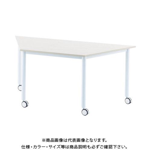 【運賃見積り】【直送品】 アールエフヤマカワ キャスターテーブル 台形 ホワイト RFCTT-WL8016DWH