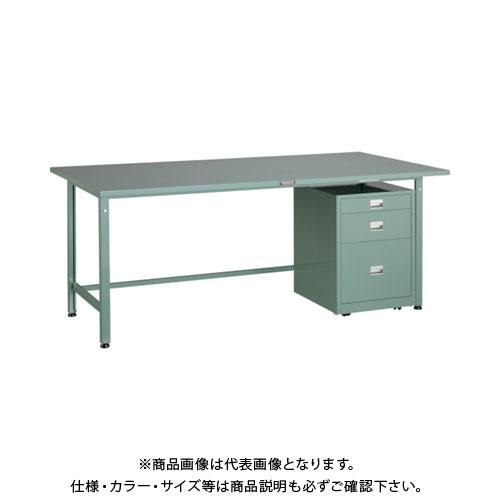 【運賃見積り】【直送品】 TRUSCO SAE型作業台 1800X900XH740 3段キャビネット付 SAE-1809UDC111