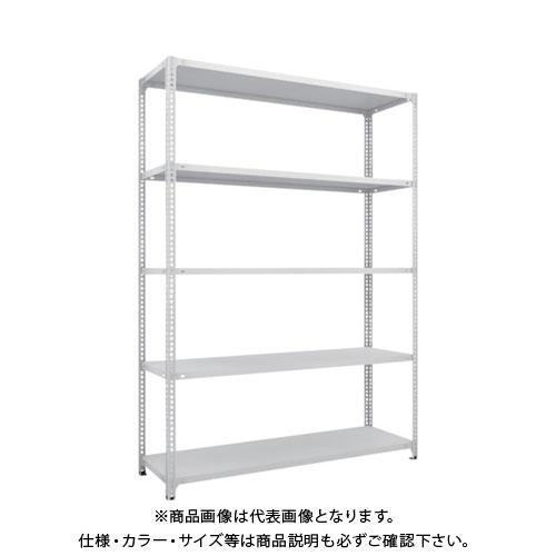 【運賃見積り】【直送品】 TRUSCO セミボルトレス軽量棚 W1500XD450XH2100 5段 ホワイト SBL-7545-W