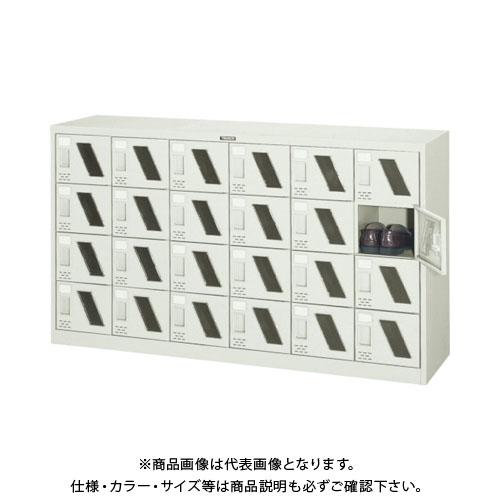 【個別送料2000円】【直送品】 TRUSCO シューズケース 24人用 1552X380XH880 窓付 SC-24M