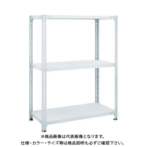 【運賃見積り】【直送品】 TRUSCO セミボルトレス軽量棚 W1200XD600XH1200 3段 ホワイト SBL-4463-W