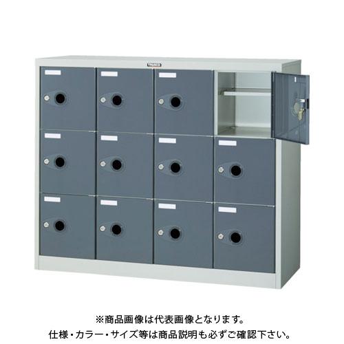 【個別送料2000円】【直送品】 TRUSCO シューズケース 12人用 1050X380XH880 棚付 鍵付 SC-12WP-L