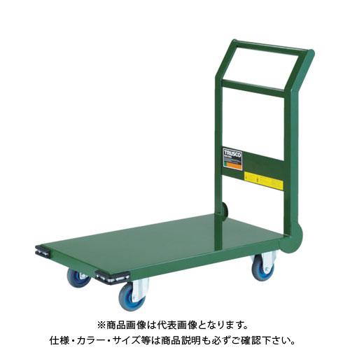 【直送品】TRUSCO 鋼鉄製運搬車 800X450 Φ100エアキャスター 緑 SH-3NAC:GN