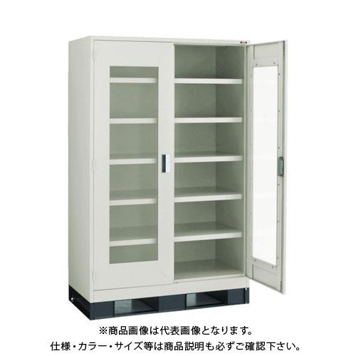 【運賃見積り】【直送品】 TRUSCO スーパーヘビーキャビネット 1200X650 窓・ベース付 SHC-605LB-A
