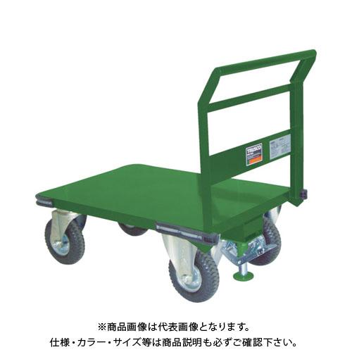 【直送品】TRUSCO 鋼鉄製運搬車 プレス製空気入タイヤ・ストッパー付1200X600 SH-2LN-ARS