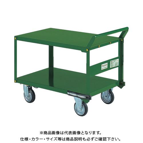 【直送品】TRUSCO 鋼鉄製運搬車 片袖2段型 800X450 プレス車 自在側S付 SH-32S
