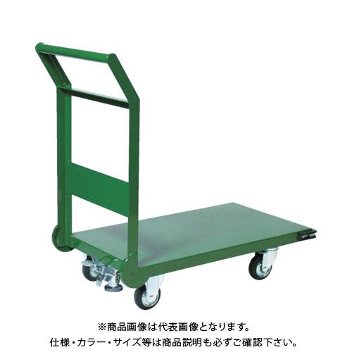 【直送品】TRUSCO 鋼鉄製運搬車 1200X600 Φ150プレス車 LS付 SH-2LNSS