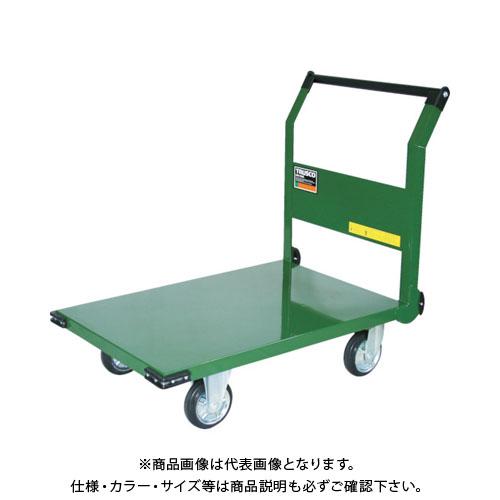 【直送品】TRUSCO 鋼鉄製運搬車 900X600 ハンドル側自在車 SH-2R