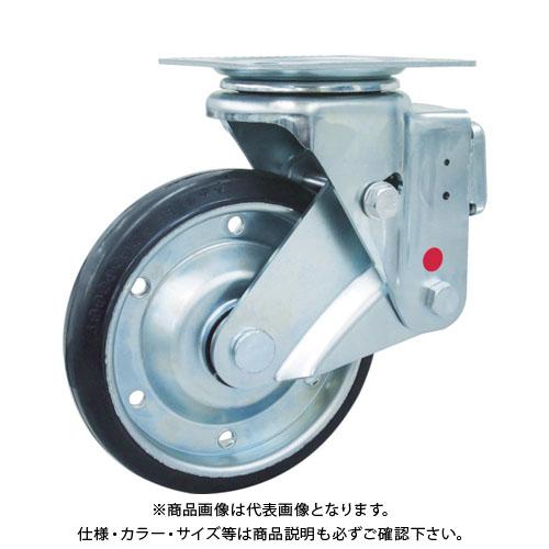ユーエイ スカイキャスター自在車 200径鋼板ホイル耐摩耗ゴムB入り車輪 SKY-1S200WF-AR-AS
